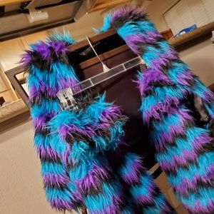 Rave outfit - vest, fluffies and wristlet set